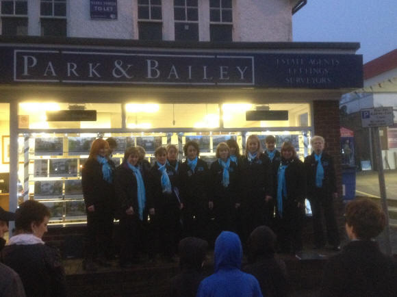 Warlingham's Christmas lights switch on