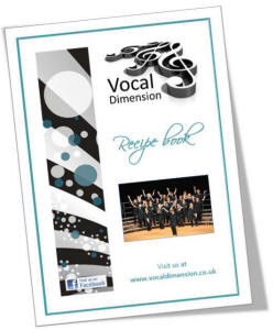 Vocal Dimension Chorus fund raising recipe book - You can read the index pages here.