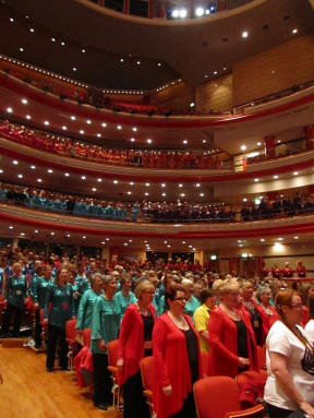 Mass sing - Inside the Symphony Hall, Birmingham